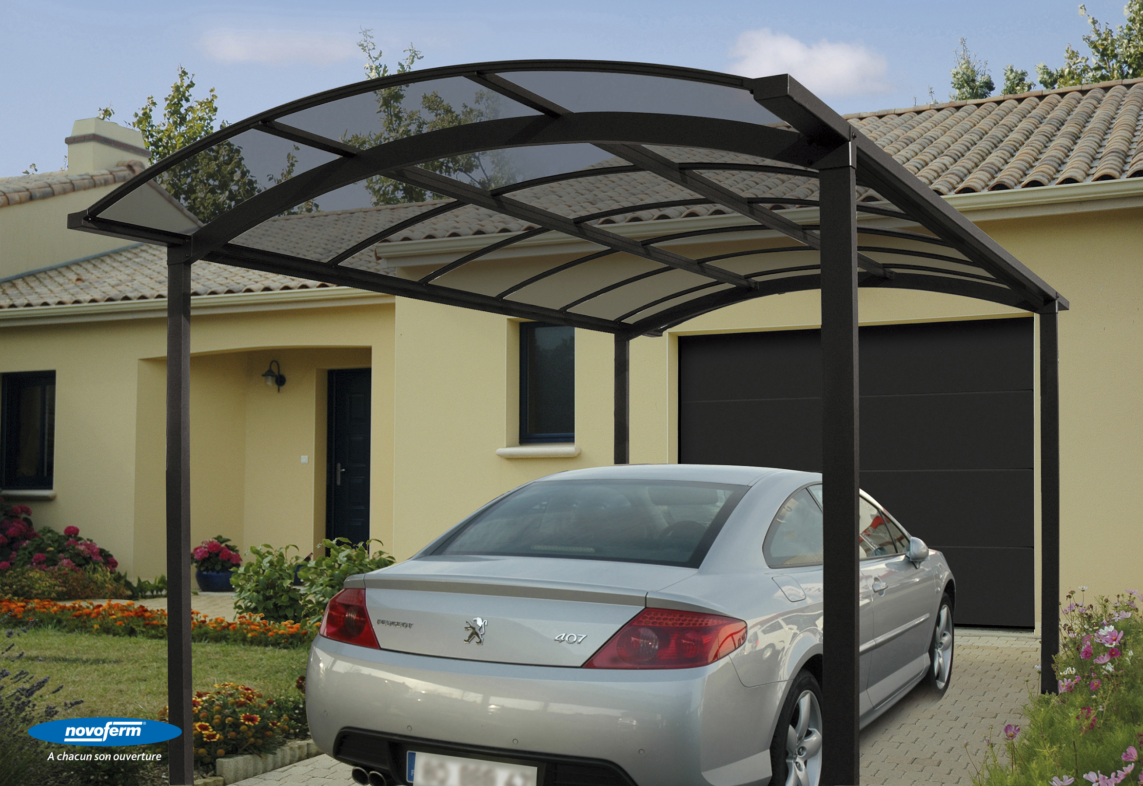 carport alu singulier 4935 carport alu nea concept. Black Bedroom Furniture Sets. Home Design Ideas