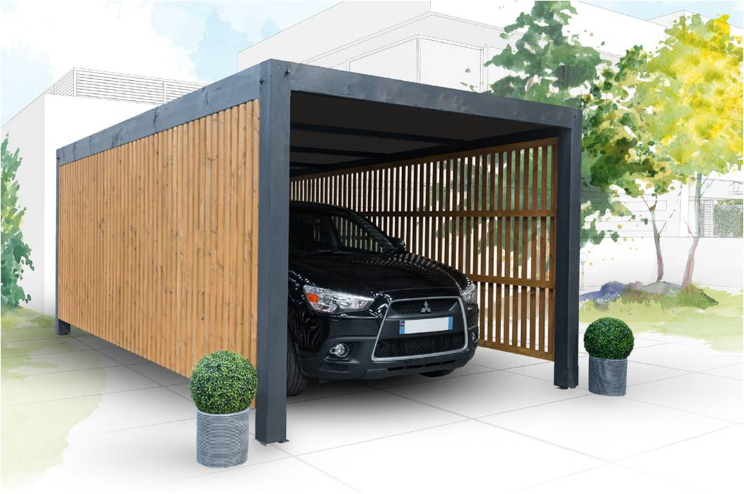 carport design carport bois nea concept. Black Bedroom Furniture Sets. Home Design Ideas